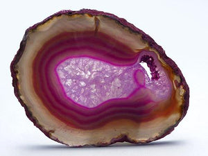 Agate Slice Large Y - Dyed Pink