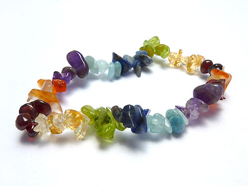 Single Strand Chip Bracelet - Chakra