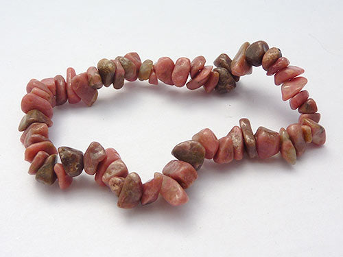 Single Strand Chip Bracelet - Rhondonite