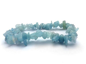 Single Strand Chip Bracelet - Aquamarine