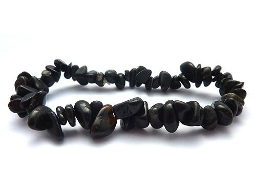 Single Strand Chip Bracelet - Black Tourmaline