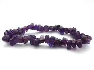 Single Strand Chip Bracelet - Dark Amethyst