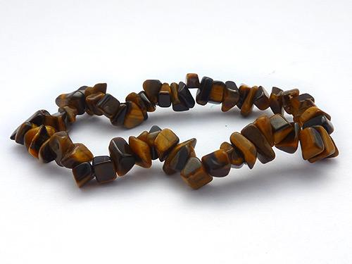 Single Strand Chip Bracelet - Tiger Eye