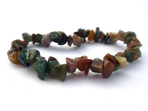 Single Strand Chip Bracelet - Fancy Jasper