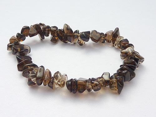 Single Strand Chip Bracelet - Smokey Quartz