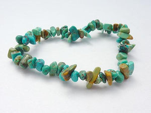 Single Strand Chip Bracelet - Turquoise
