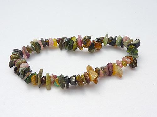 Single Strand Chip Bracelet - Tourmaline Mixed