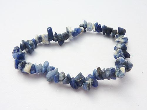Single Strand Chip Bracelet - Sodalite