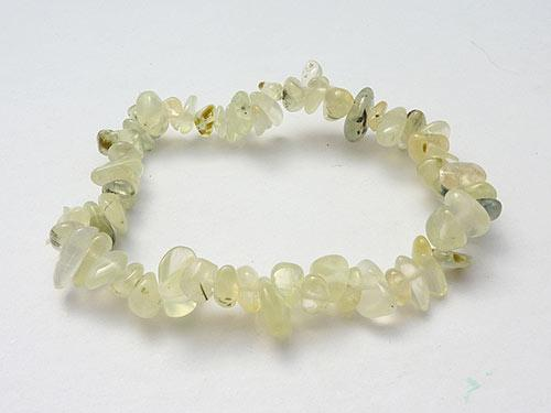 Single Strand Chip Bracelet - Prehnite in Epiodite