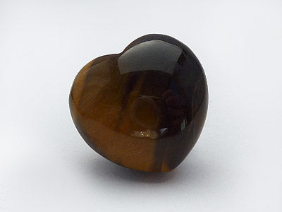 Tiger Eye Heart 2.5cm