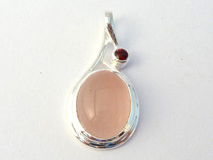 Rose Quartz Drop Pendant