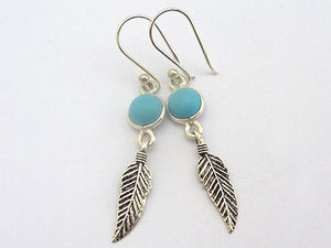 Turquoise with Feather Earrings