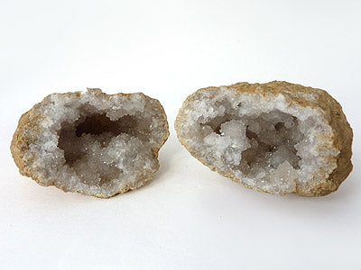 Cracked Quartz Geode A (2 piece)