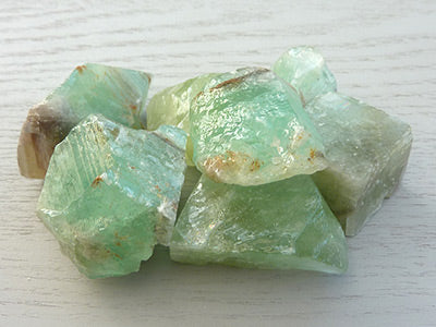 Natural Calcite pieces - Green