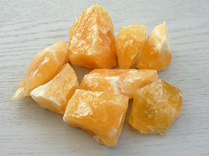 Natural Calcite pieces - Orange
