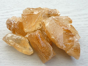 Natural Calcite pieces - Golden Honey