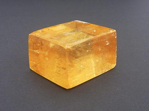 Golden Calcite Rhombic Cubes - Polished B