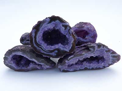 Dyed Agate Geodes - Purple