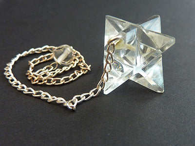 Clear Quartz Merkeba Star Pendulum