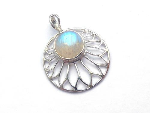 Sundisc with Moonstone Pendant