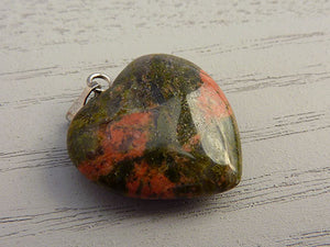 Unakite Heart Pendant - Small