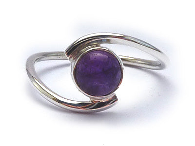 Sterling Silver Ring Amethyst