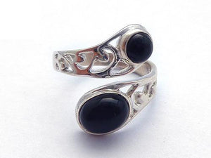 Black Onyx Wrap Fillagree Ring