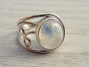 Moonstone Ring Side Pattern