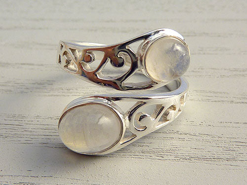Moonstone Wrap Filligree Ring