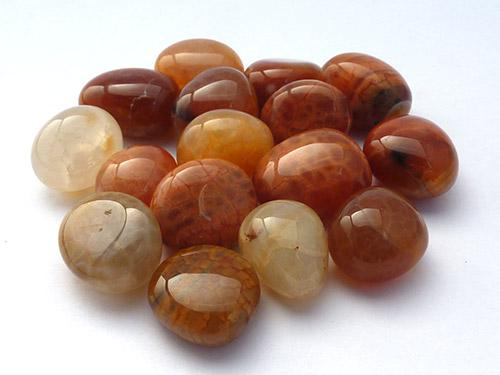 Fire Agate Tumbled Stones