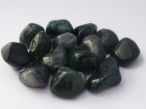 Moss Agate Tumbled Stones