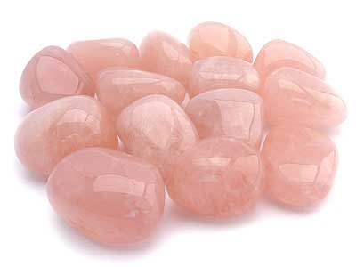 Rose Quartz Tumbled Stones - A Grade