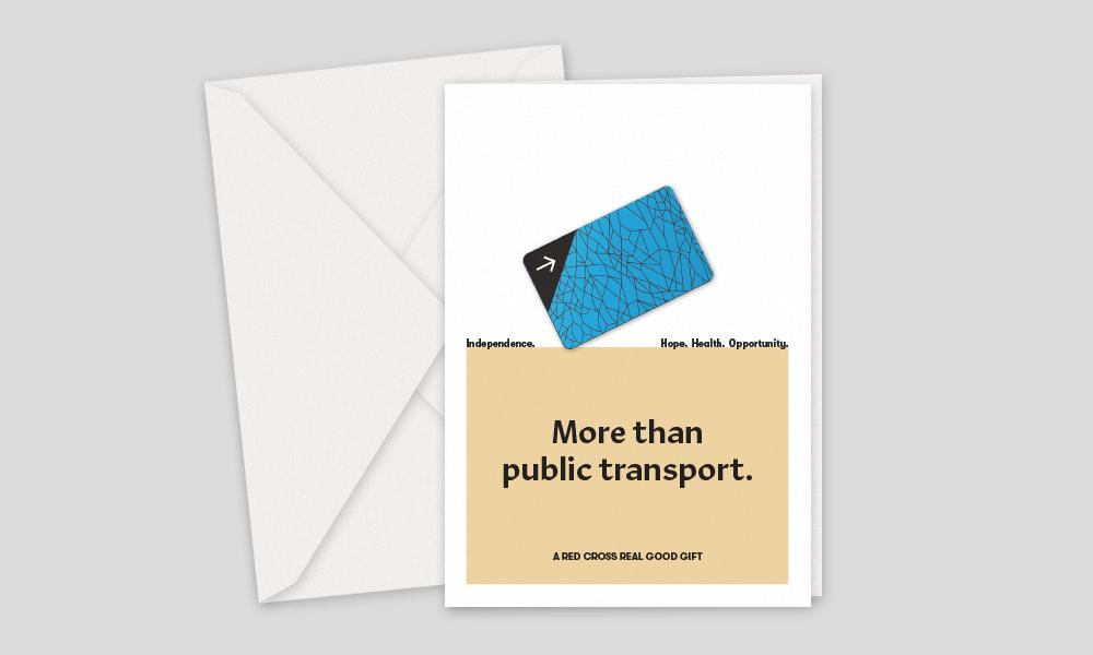 Australian Red Cross, Charity Gifts, Public Transport Card For A Person Seeking Asylum To Access Mainstream Services