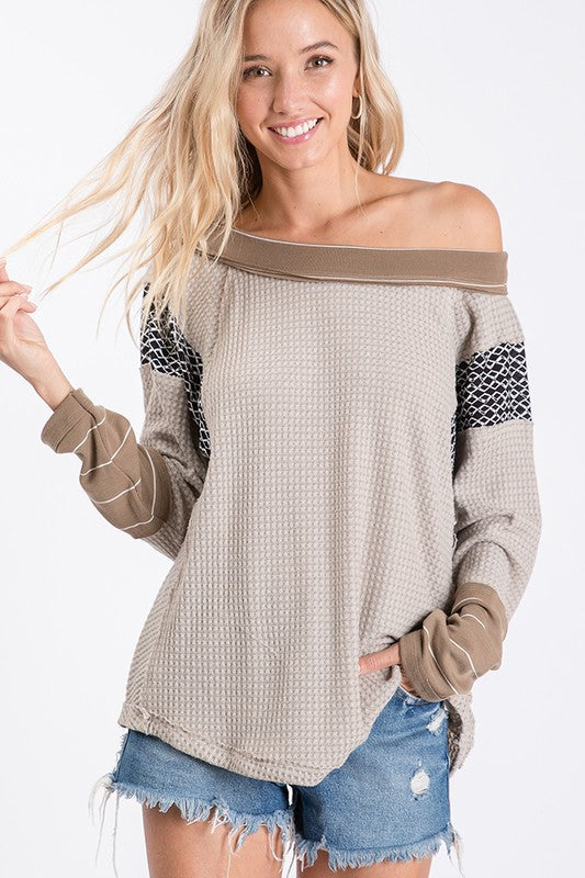 TAUPE MULTI TOP