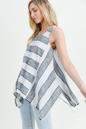 STRIPED FLOWY TANK