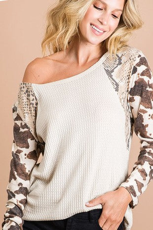 THERMAL SNAKESKIN TOP