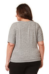 LOOSE FIT WRAP BANDED TOP