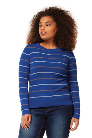 ELECTRIC BLUE STRIPED TOP
