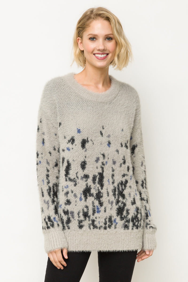 GREY MIXED SWEATER
