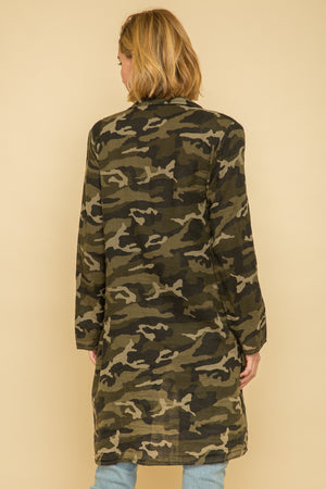 CAMO ACID WASH CAMP COAT