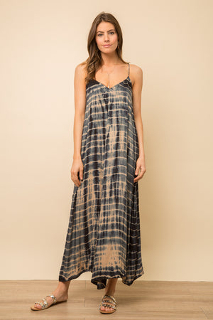 WASHED TIE DYE MAXI DRESS