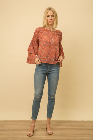 ROSE LAYERED BLOUSE