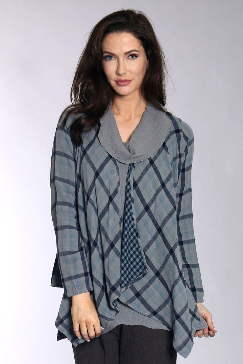 GRAY PLAID JACKET