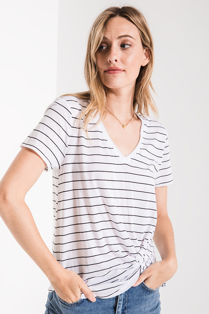 THE LUCCA TWIST FRONT TEE