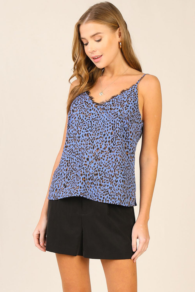 PERSIAN BLUE EYELASH CAMI