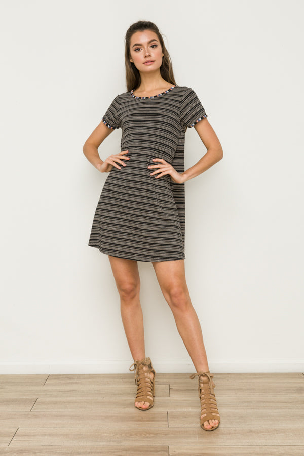 EMROIDERED SWING DRESS