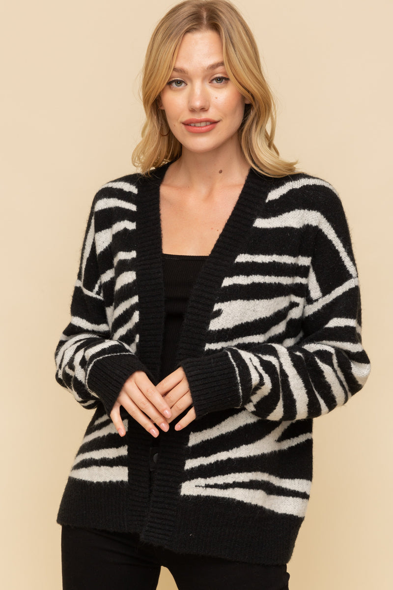 ZEBRA OPEN CARDIGAN