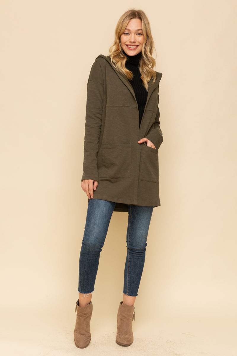 OLIVE TERRY CARDIGAN