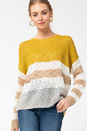KIWI COMBO STRIPED SWEATER