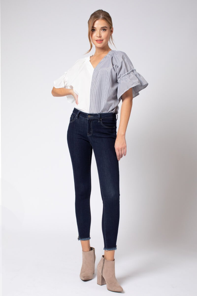 GEMMA LOW RISE ANKLE SKINNY